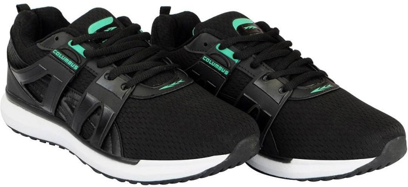 Columbus Mens Running Shoes For Men(Black, Green)