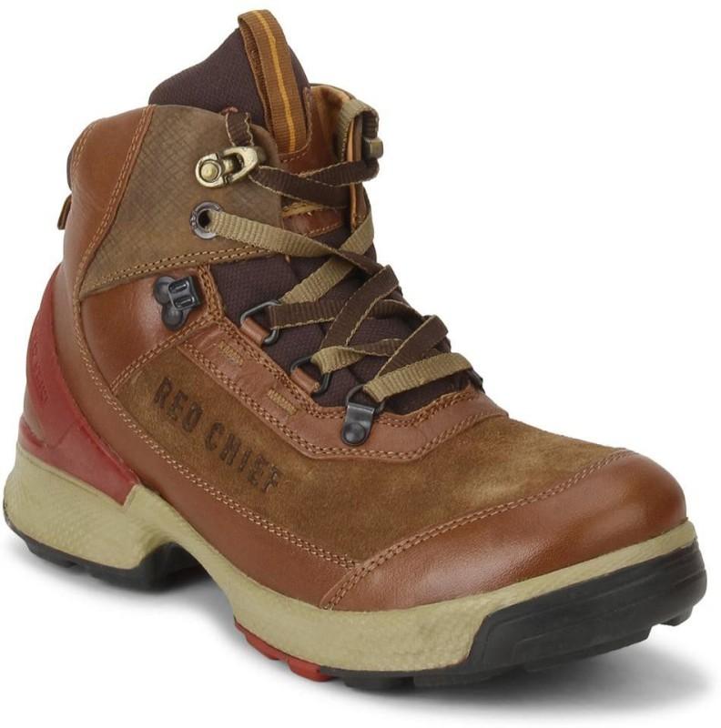 Red Chief RC3051 Men Tan Boots For Men(Tan)