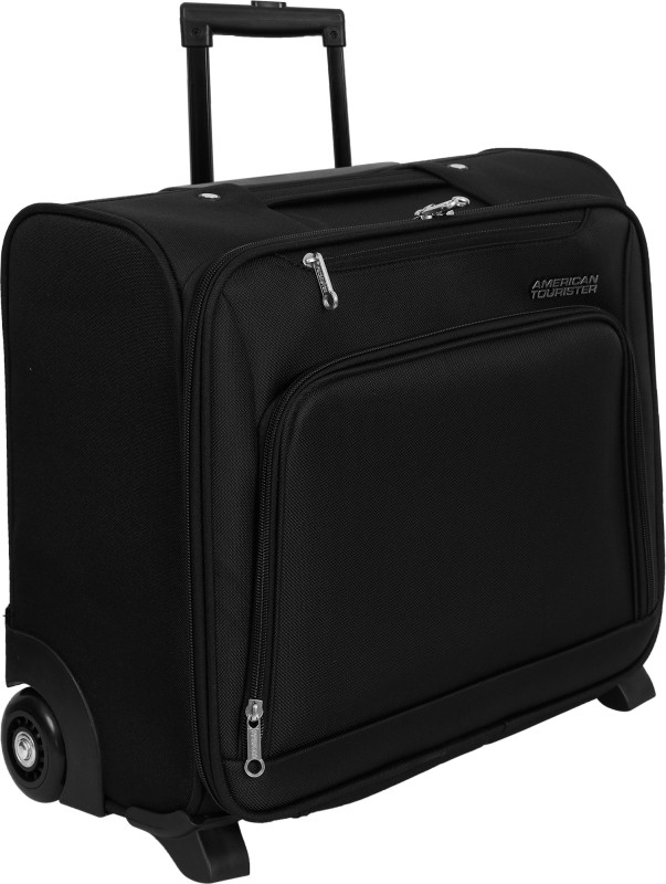 American Tourister Flyer Overnighter Expandable Cabin Luggage - 18 inch(Black)