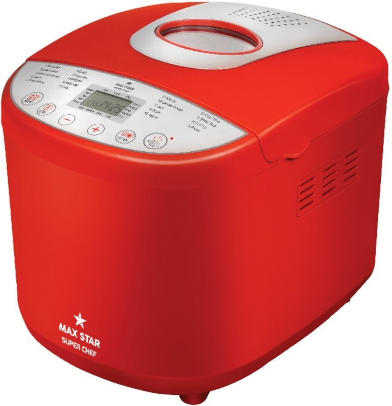 Max Star BM01 Super Chef Bread Maker(Red)