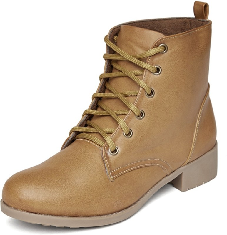 Marc Loire Loire Womens Tan Lace-up Boots Boots For Women(Tan)