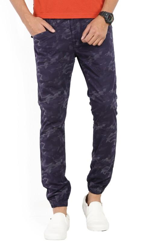 Spykar Regular Fit Men's Blue Trousers
