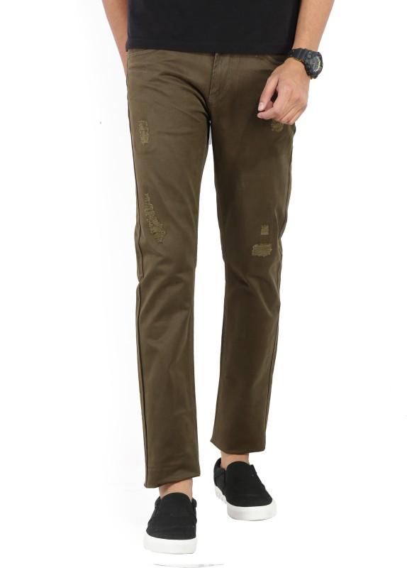 Spykar Mens Green Trousers