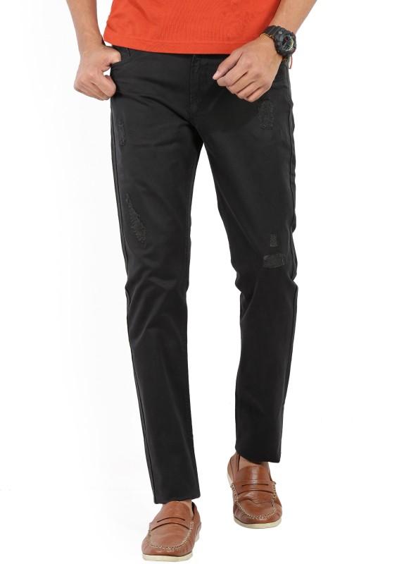 Spykar Mens Dark Blue Trousers