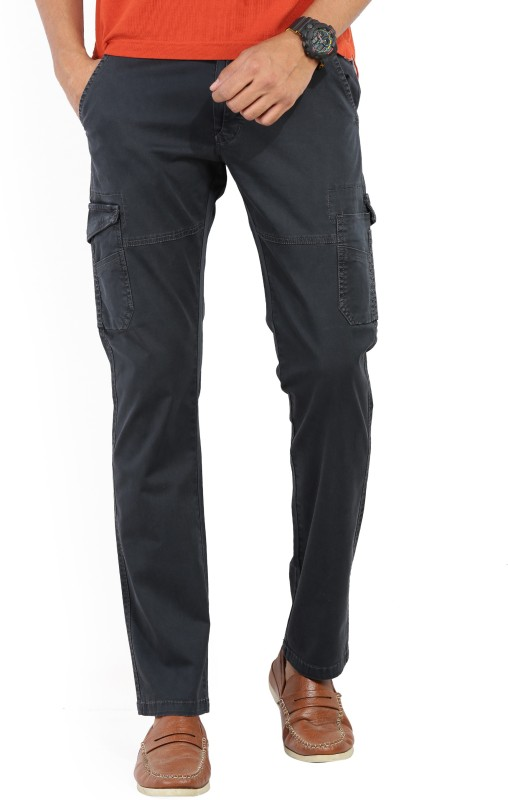 Spykar Slim Fit Mens Grey Trousers