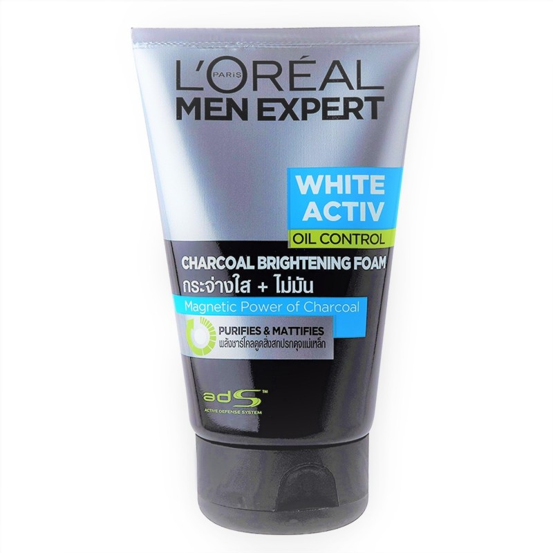 LOreal Men expert White Active Oil Contro Charcoal Brightening Foam Face Wash(100 ml)