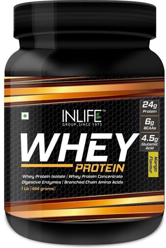 Inlife 1Lb Whey Protein(454 g, Mango)