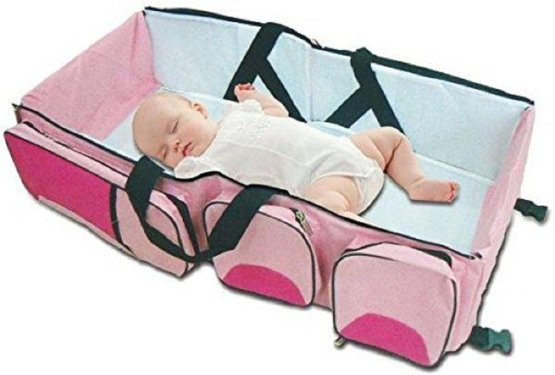 Three Secondz Baby Kingdom Pink Baby Bed Etc(Cotton, Pink)