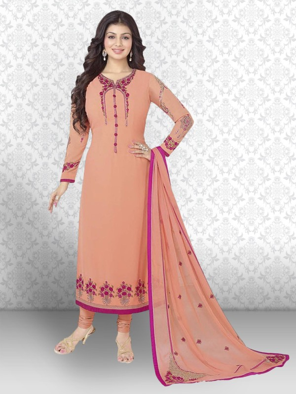 Divastri Georgette Embroidered Salwar Suit Material(Un-stitched)
