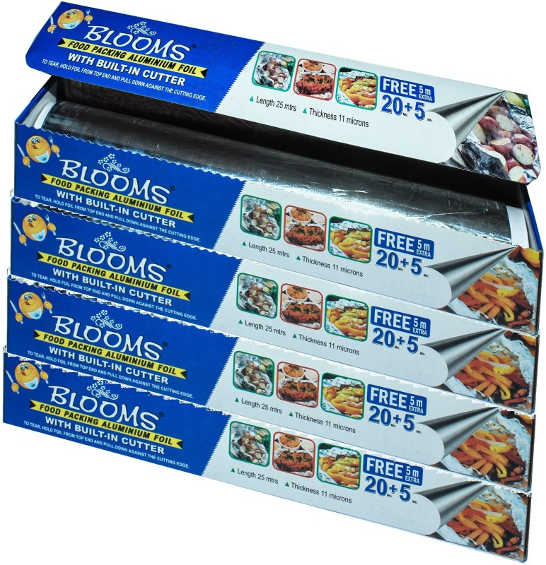 Blooms 25Mtr Foil (Pack Of 4) Aluminium Foil(Pack of 4, 25 m)