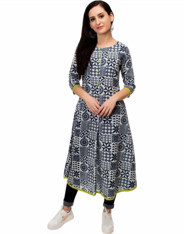 Mokshi Printed Women's A-line Kurta(Multicolor)