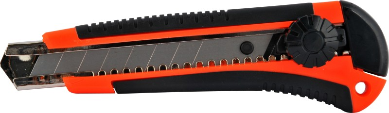 Bambalio Heavy Cutter Rubber Grip Hand-held Paper Cutter(Set Of 4, Black & Red)