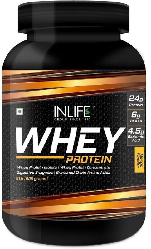 Inlife 2Lb Whey Protein(908 g, Mango)