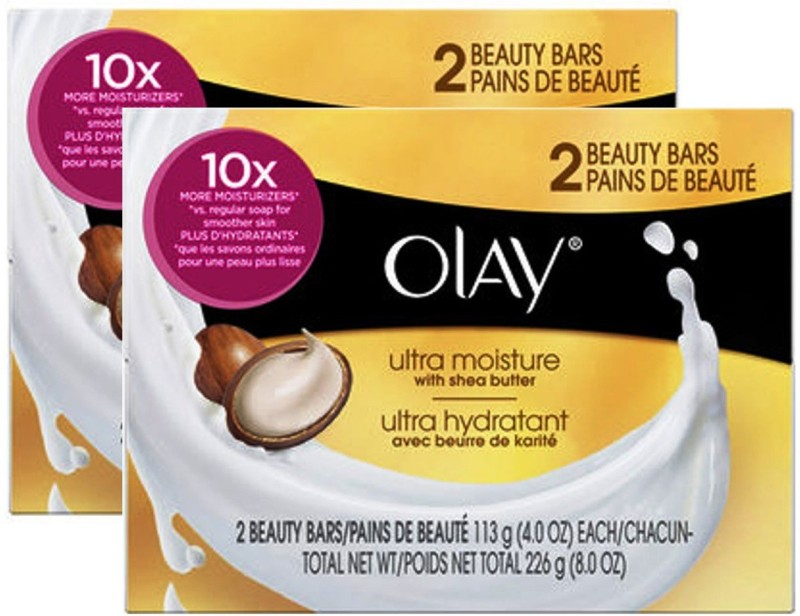 Olay Ultra Moisture Beauty Bars Soap(133 g, Pack of 4)