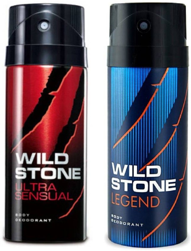 Wild Stone Ultra Sensual and Legend Deodorant Spray Pack of 2 Combo (150ML each) Deodorant Spray - For Men(300 ml, Pack of 2)