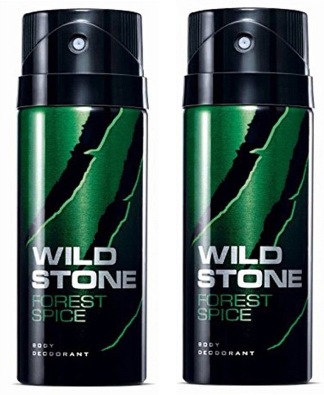 Wild Stone Forest Spice Deodorant Spray Pack of 2 Combo (150ML each) Deodorant Spray - For Men(300 ml, Pack of 2)