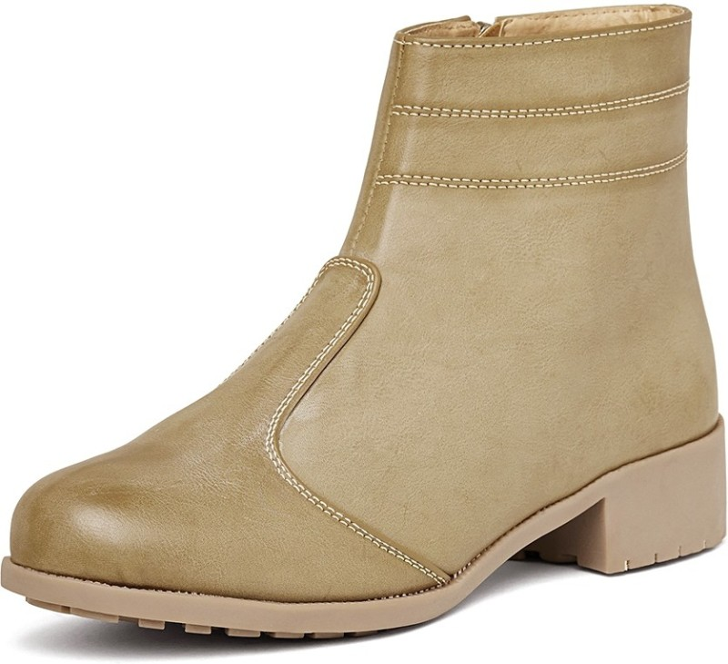 Marc Loire Marc Loire Womens Camel Zipper Boots Boots For Women(Tan)