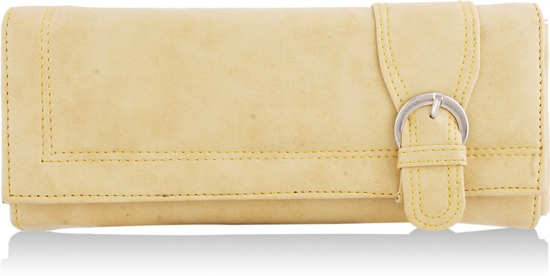 Fantosy Women Beige Artificial Leather Wallet(4 Card Slots)