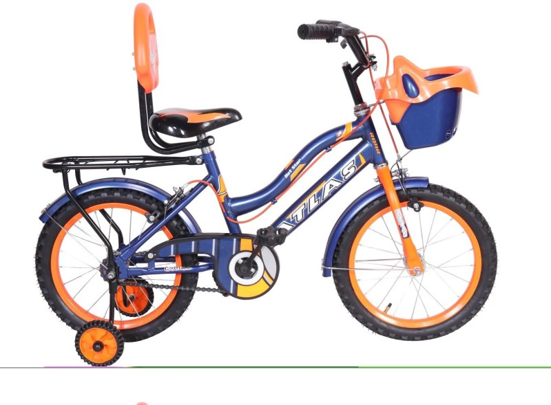 Atlas Hot Star Sporty Bike For Kids Age Of 5-7yrs Blue&Orange 16 T Single Speed Recreation Cycle(Multicolor)