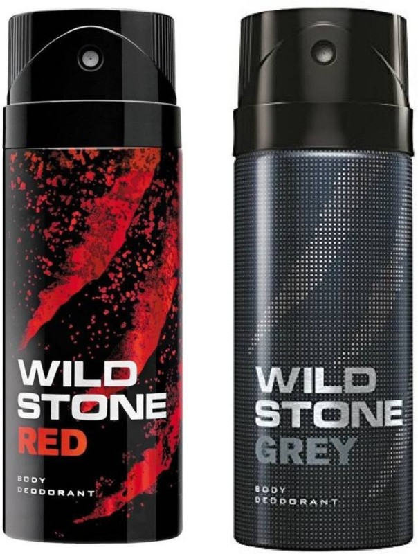 Wild Stone Red and Grey Deodorant Spray Pack of 2 Combo (150ML each) Deodorant Spray - For Men(300 ml, Pack of 2)
