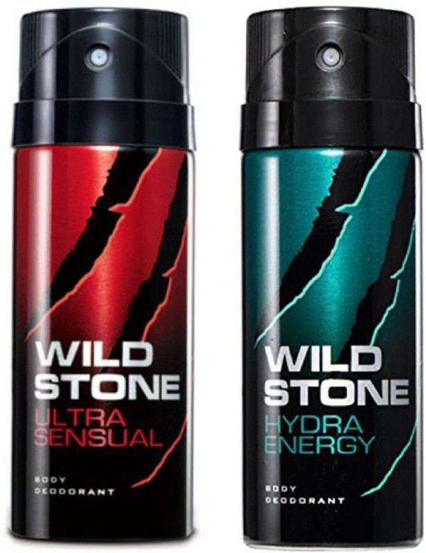 Wild Stone Ultra Sensual and Hydra Energy Deodorant Spray Pack of 2 Combo (150ML each) Deodorant Spray - For Men(300 ml, Pack of 2)