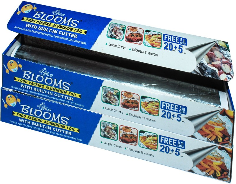 Blooms 25 Meter Foil (Pack of 2) Aluminium Foil(Pack of 2, 50 m)