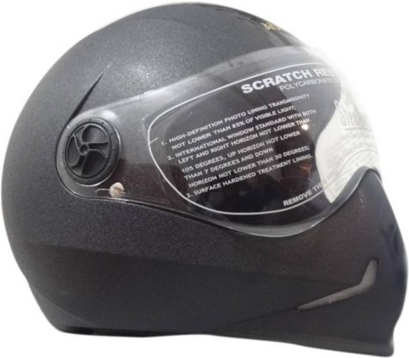 Steelbird Steel bird Adonis Dashing Motorbikes Black Motorbike Helmet(Black)