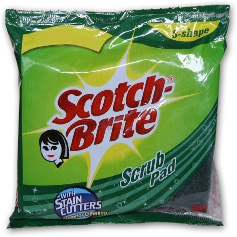 Scotch Brite Scrub pad Scrub Pad(Regular, Pack of 10)