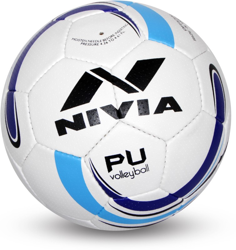 Nivia PU Volleyball Volleyball - Size: 4(Pack of 1, White, Blue)
