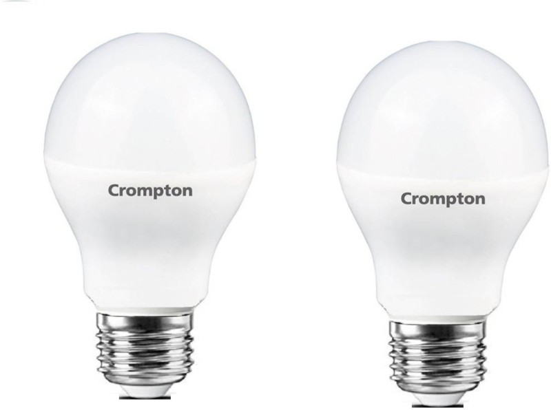 Crompton 3 W Standard E27 LED Bulb(Yellow, Pack of 2)