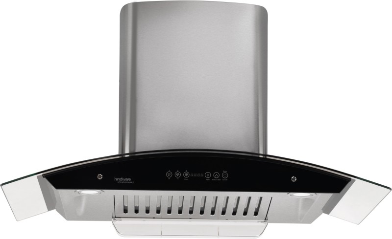 Hindware Cleo 90 - Auto Clean Hood Wall Mounted Chimney(Brush Sliver 1200 CMH)