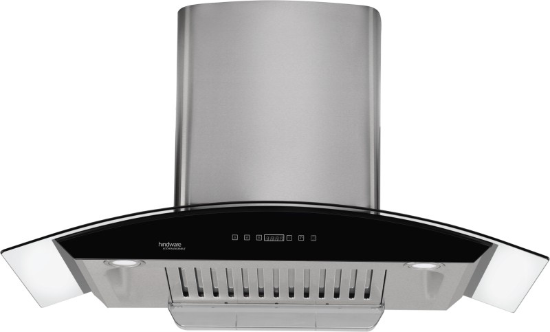 Hindware Nevio 90 Auto Clean Wall Mounted Chimney(Brush Silver 1200 CMH)