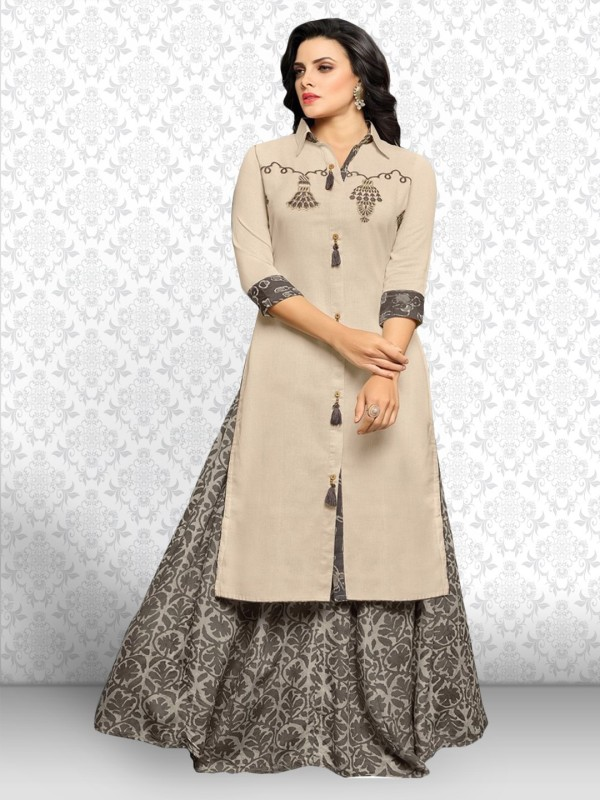 Divastri Cotton Embroidered, Printed Salwar Suit Material(Un-stitched)