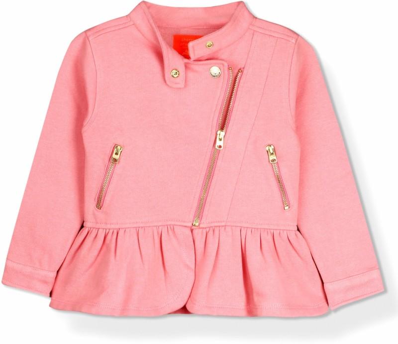 Cherry Crumble California Full Sleeve Solid Girls Jacket