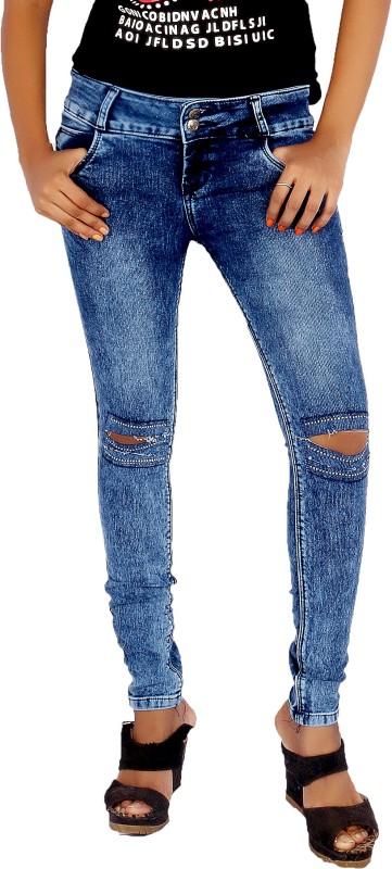 Mystix Skinny Women Blue Jeans