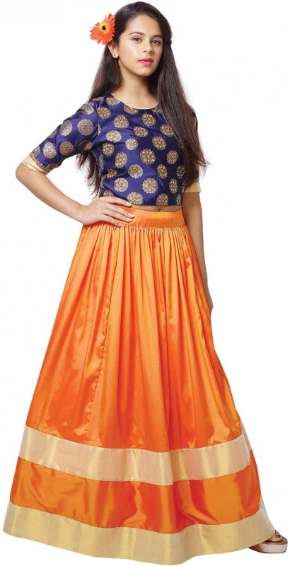 Wommaniya impex Girl's Lehenga Choli Ethnic Wear, Fusion Wear, Party Wear Embroidered...