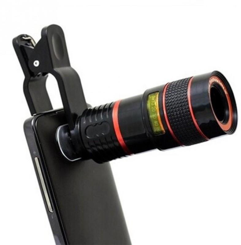 Eightiz 8x Zoom Mobile Phone Telescope Clip Lens for Cell Phone Optical Lens Magnifier Mobile Phone Lens(Telephoto)