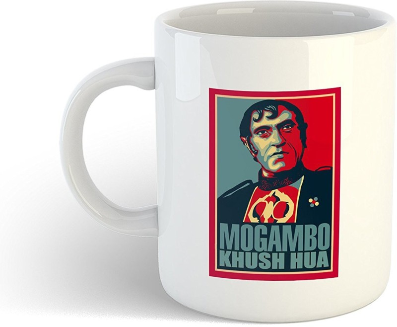 iKraft Bollywood Super Villain - Mogambo Khush Hua Funny Printed CoffeeMug or Tea Cup 11oz Dishwasher and Microwave Safe Ceramic Mug(350 ml)