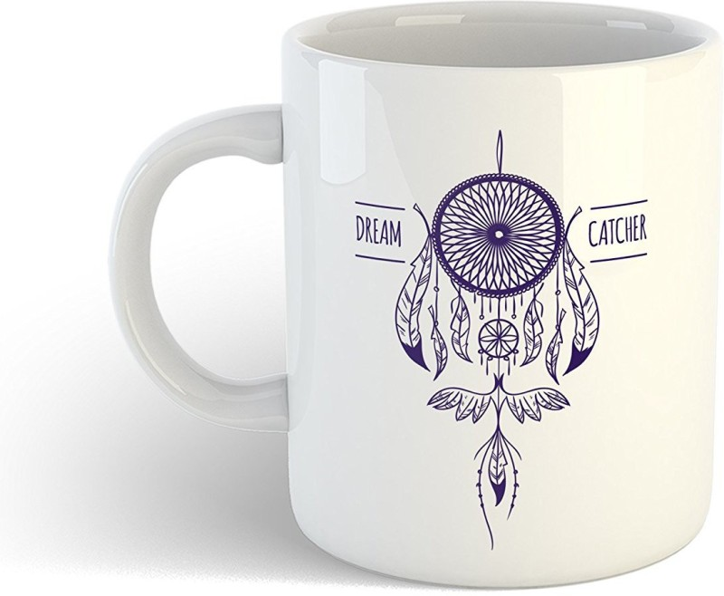 iKraft Beautiful Dreamcatcher or Dream Catcher Theme Printed CoffeeMug or Tea Cup 11oz Dishwasher and Microwave Safe Ceramic Mug(350 ml)