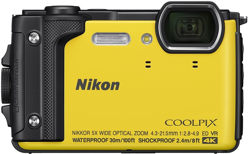 Nikon Coolpix W300 Point and Shoot Camera(Yellow 16 MP) image