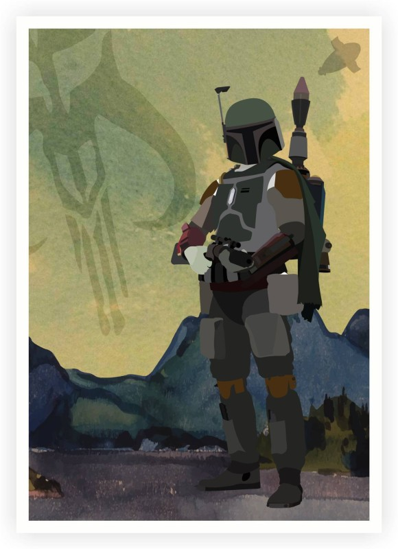 ASD Boba Fett Star Wars Character Wall Poster 13*19 inches Matte Finish Paper Print(19 inch X 13 inch, Rolled)