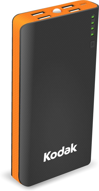 Kodak PB P03-K/15000mAh Kodak 15000 mAh Power Bank(Black,Orange, Lithium-ion)