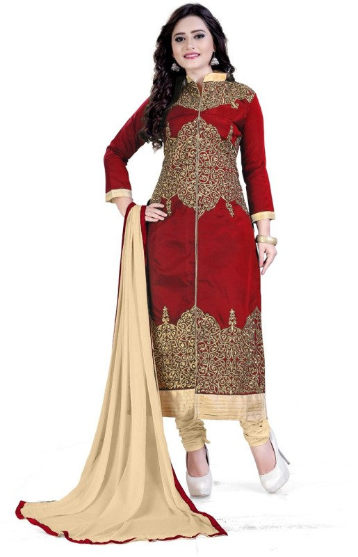 Rudra Fashion Embroidered Kurta & Salwar(Stitched)