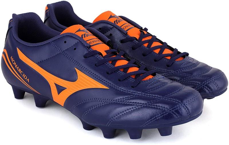 Mizuno MONARCIDA FS MD Football Shoes For Men(Blue, Orange)