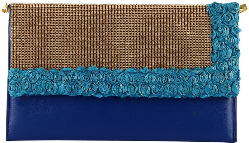 Tooba Handicraft Blue Sling Bag