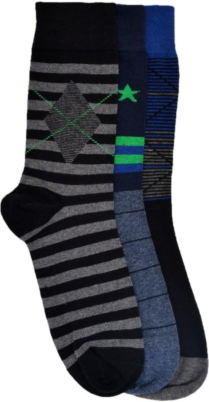 VINENZIA Mens Crew Length Socks(Pack of 3)