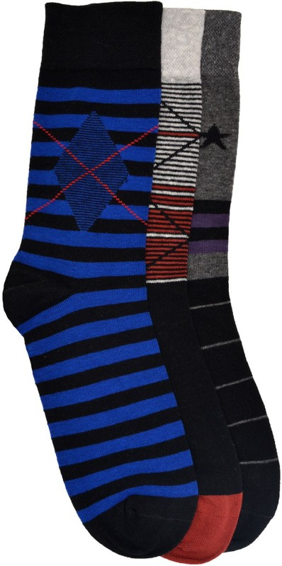 VINENZIA Mens Crew Length Socks(Pack of 3)