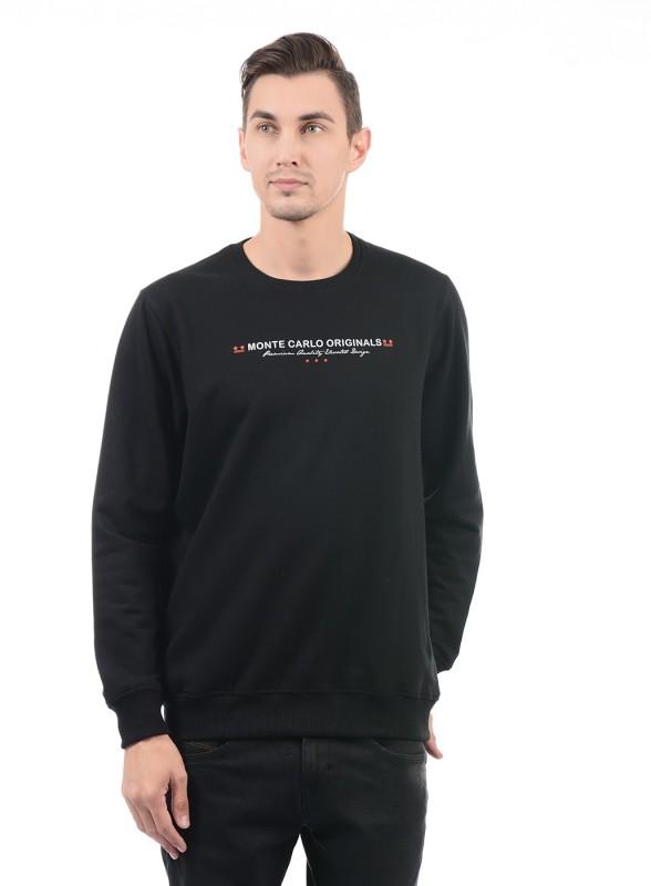 Monte Carlo Full Sleeve Solid Men Sweatshirt