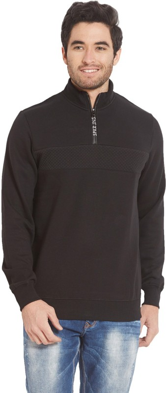 Spykar Full Sleeve Solid Men Sweatshirt