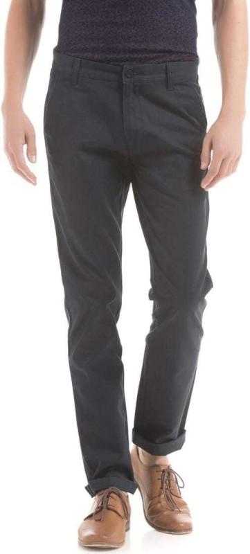 Izod Slim Fit Men Blue Trousers